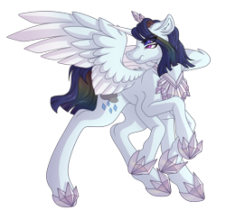 Size: 3354x3120 | Tagged: safe, artist:amazing-artsong, rainbow dash, rarity, alicorn, fusion, simple background, solo, transparent background