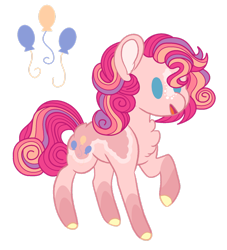 Size: 1920x2118 | Tagged: safe, artist:teal-quil, pinkie pie, pony, alternate design, simple background, solo, transparent background