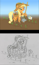 Size: 827x1380   Tagged: safe, artist:lauren faust, applejack, earth pony, pony
