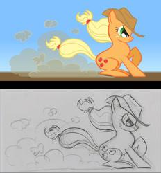 Size: 822x885   Tagged: safe, artist:lauren faust, applejack, earth pony, pony