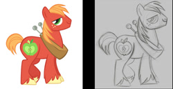 Size: 1128x582   Tagged: safe, artist:lauren faust, big macintosh, earth pony, pony