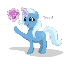 Size: 1480x1308 | Tagged: safe, artist:tayarinne, trixie, pony, unicorn, cup, female, happy, simple background, smiling, solo, teacup, that pony sure does love teacups, transparent background