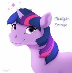 Size: 1700x1717 | Tagged: safe, twilight sparkle, pony, unicorn, female, simple background, solo, unicorn twilight, white background