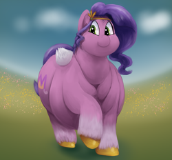 Size: 2343x2172 | Tagged: safe, artist:lupin quill, pipp petals, pegasus, pony, g5, belly, big belly, butt, chubby cheeks, double chin, fat, fat fetish, fetish, flabby chest, large butt, lineless, neck fat, obese, plot, solo