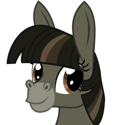 Size: 500x500   Tagged: safe, artist:the smiling pony, twilight sparkle, donkey, .svg available, donkified, looking at you, smiling, solo, species swap, svg, vector