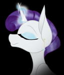 Size: 759x898   Tagged: source needed, safe, artist:feather_bloom, rarity, alternate hairstyle, female, mare, solo