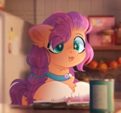 Size: 970x905 | Tagged: safe, artist:peppypebbs, sunny starscout, earth pony, pony, g5, female, kitchen, mare, redraw, solo