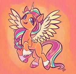 Size: 2048x1986 | Tagged: safe, artist:sophillia, sunny starscout, alicorn, pony, g5, female, mare, solo