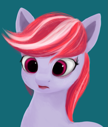 Size: 609x715 | Tagged: safe, artist:iron curtain, sugar moonlight, earth pony, pony, g5, bust, female, simple background, solo
