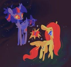 Size: 1493x1399 | Tagged: safe, artist:astro_eden, fluttershy, twilight sparkle, alicorn, pegasus, pony, female, lesbian, shipping, twishy