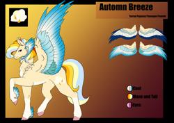 Size: 1920x1358 | Tagged: safe, artist:oneiria-fylakas, oc, oc:autumn breeze, pegasus, pony, male, reference sheet, solo, stallion