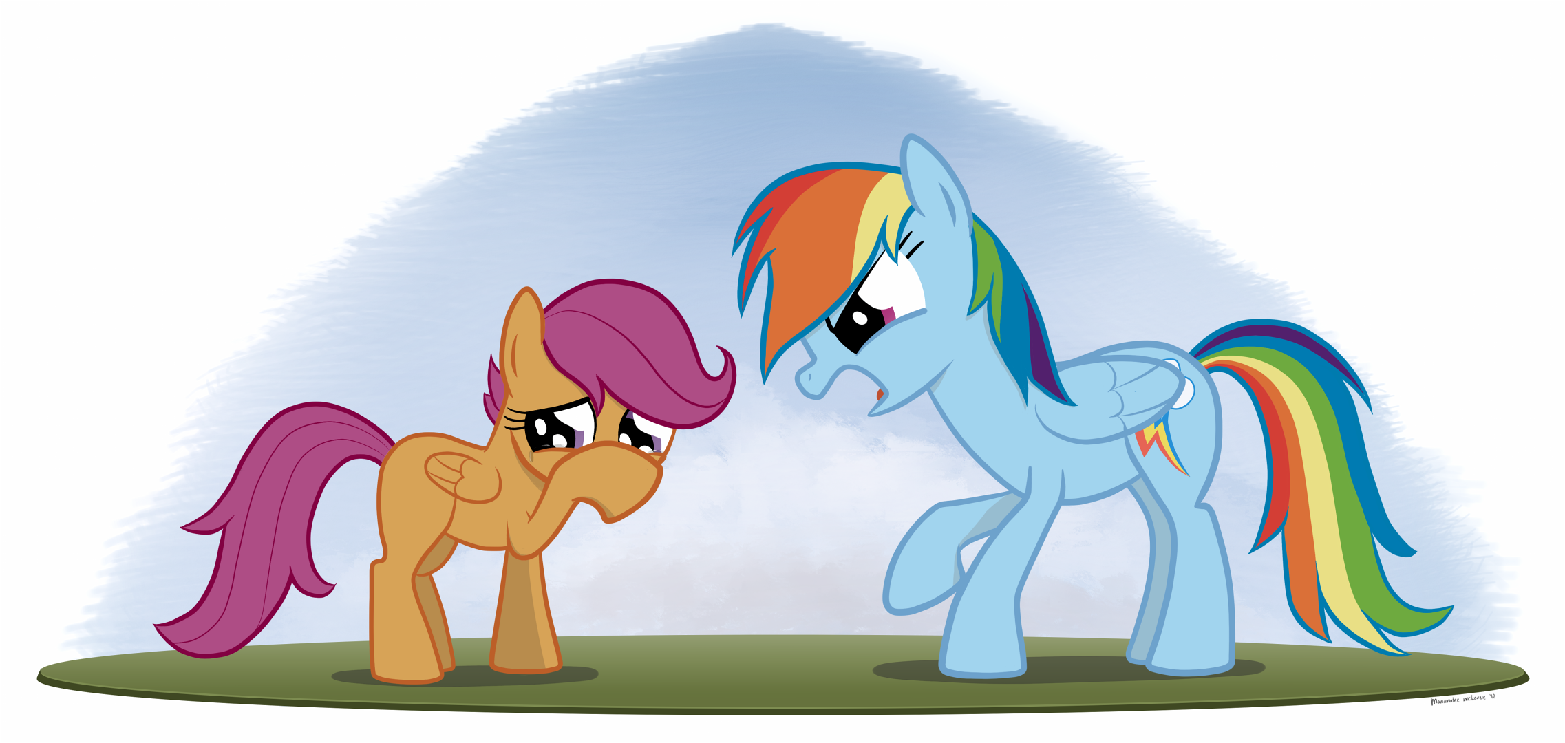 13668 Artist Needed Source Needed Safe Rainbow Dash Scootaloo Pegasus Pony Abuse Angry Covering Crying Duo Duo Female Female Filly Implied Scootabuse Mare Rainbow Douche Raised Hoof Sad Yelling Derpibooru An older, mellower scootaloo relocates to the crystal empire, tasked with tutoring a jumpy junior princess. 13668 artist needed source needed