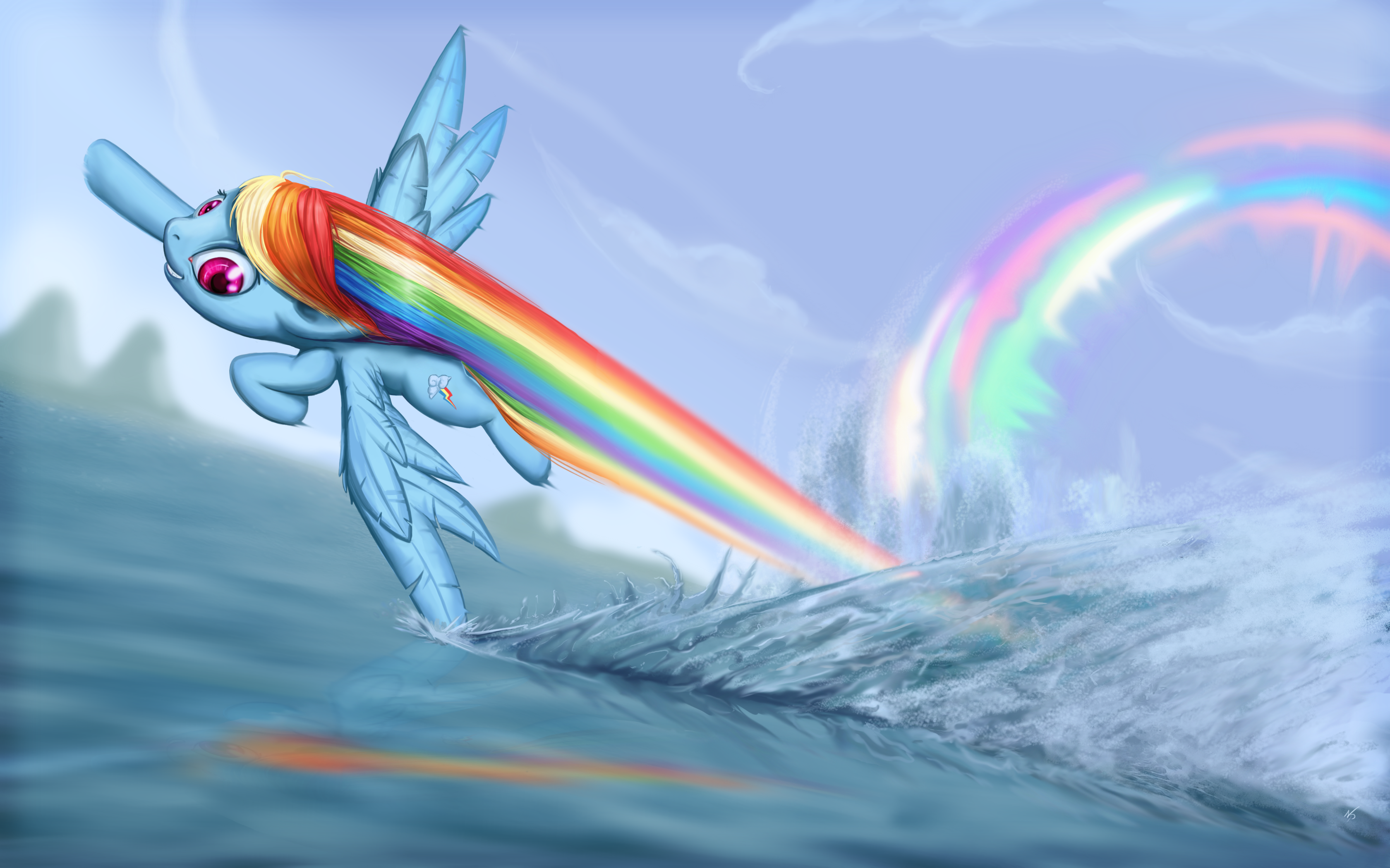 Rainbow dash rainbow boom