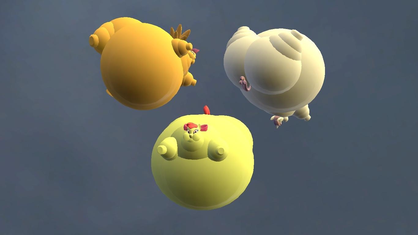 3d, Apple Bloom, Artist:anon06952, Balloon