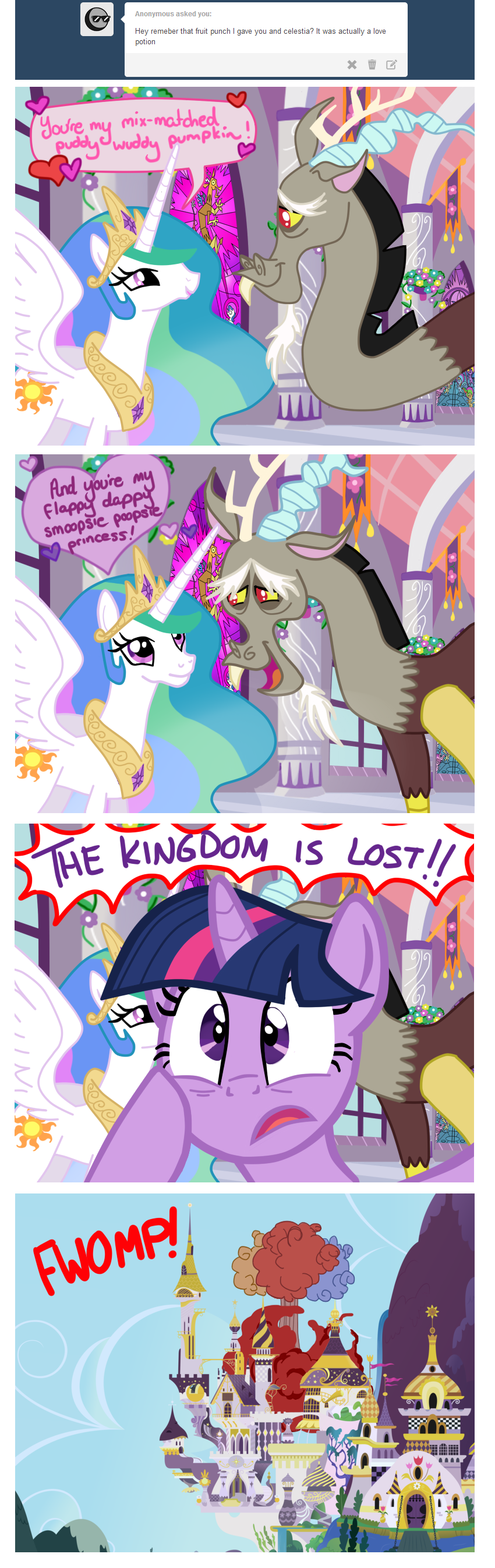 Twilight Sparkle And Discord In Love #639822 - ask t...