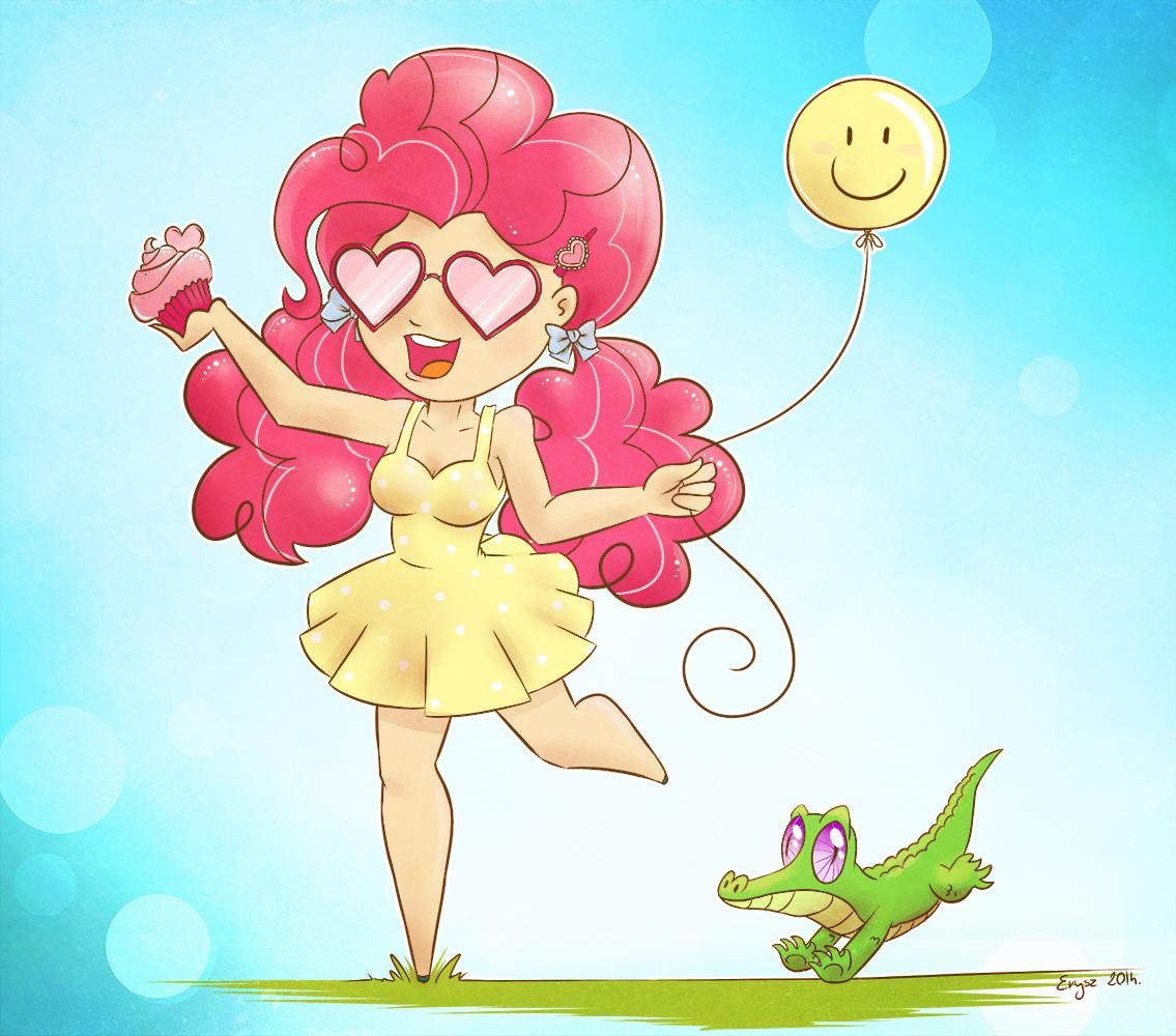 Pinkie pie human with gummy