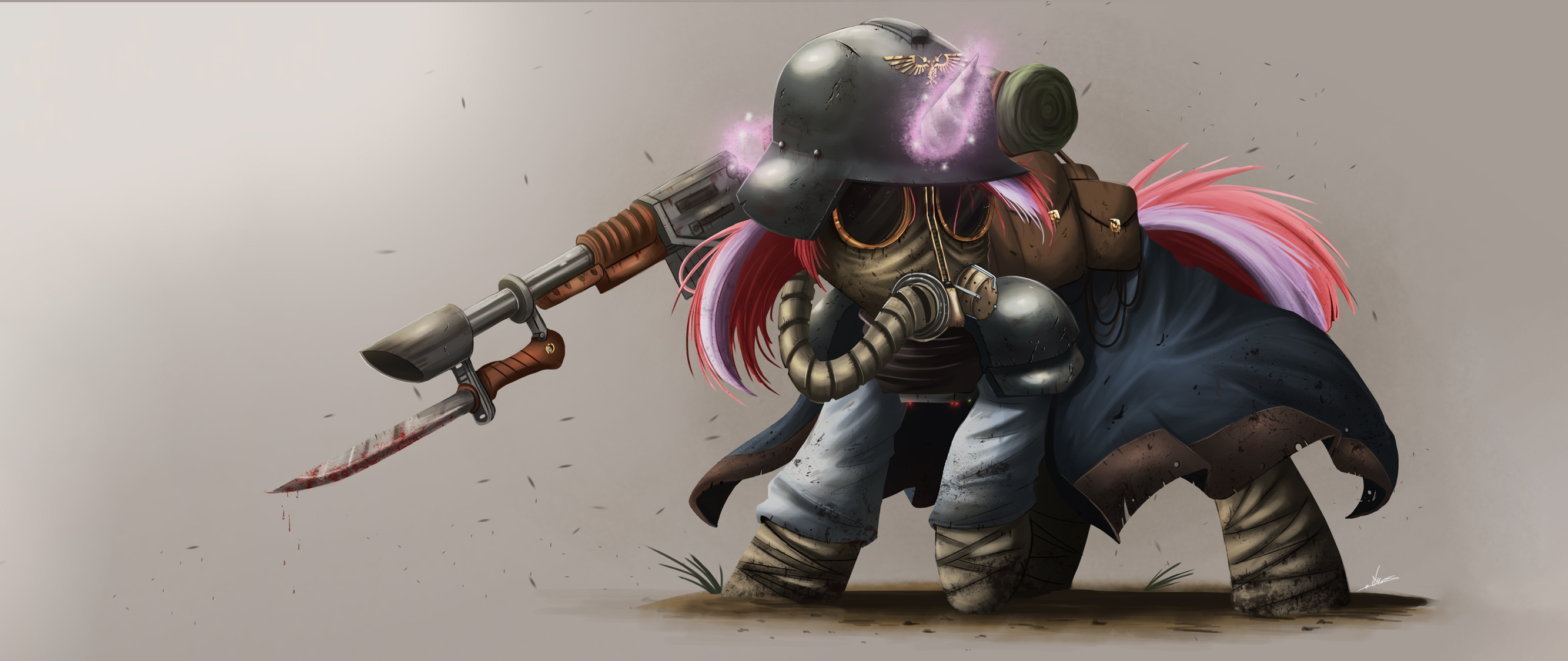1302609 Armor Artistncmares Bags Bayonet Blood