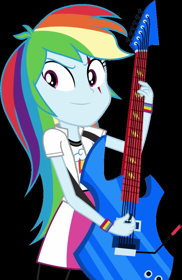 Картинки пони радуга с гитарой