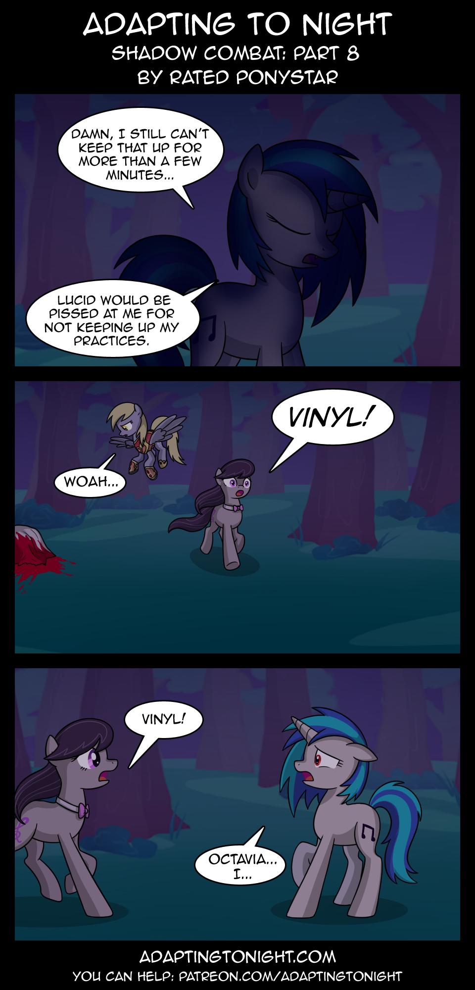 1137642 Artist Terminuslucis Comic Adapting To Night