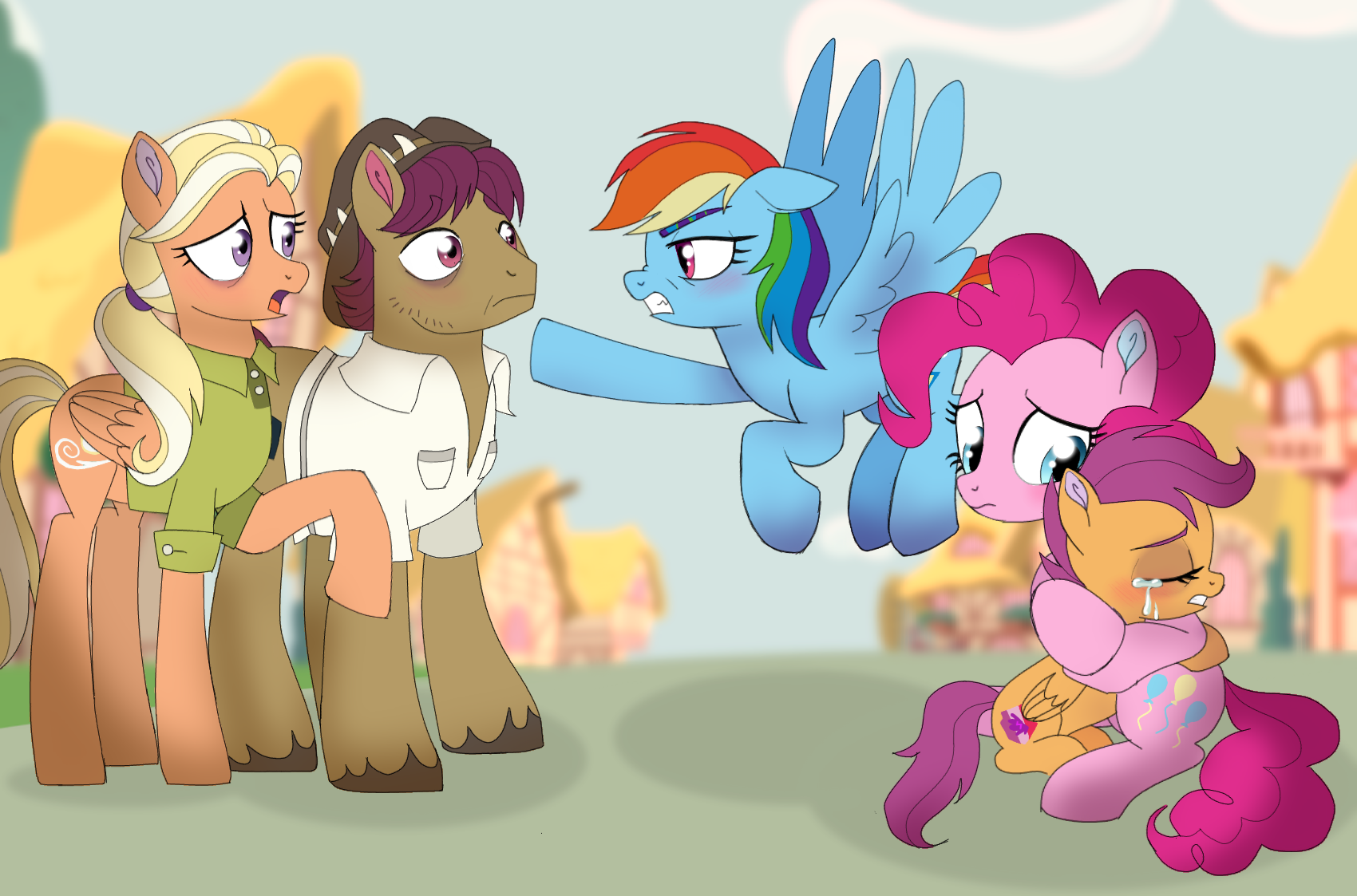 2069680 Angry Artist Unoriginai Bags Under Eyes Bared Teeth Blurry Background Crying Cutie Mark Discussion In The Comments Eyes Closed Female Filly Flying Foal Hug Male Mane Allgood Mare Pinkie Pie Ponyville This makeover features rainbow dash and scootaloo as bliss and bubbles. 2069680 angry artist unoriginai