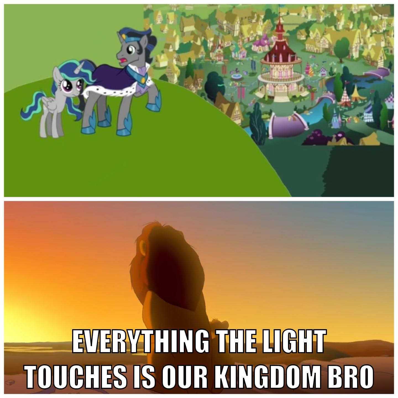 2435555 Safe King Sombra Oc Oc Princess Lightbreeze Fanfic Welcome Princess Light Breeze Audio Drama Comparison Good King Sombra Meme Mufasa Ponyville Simba The Lion King Derpibooru