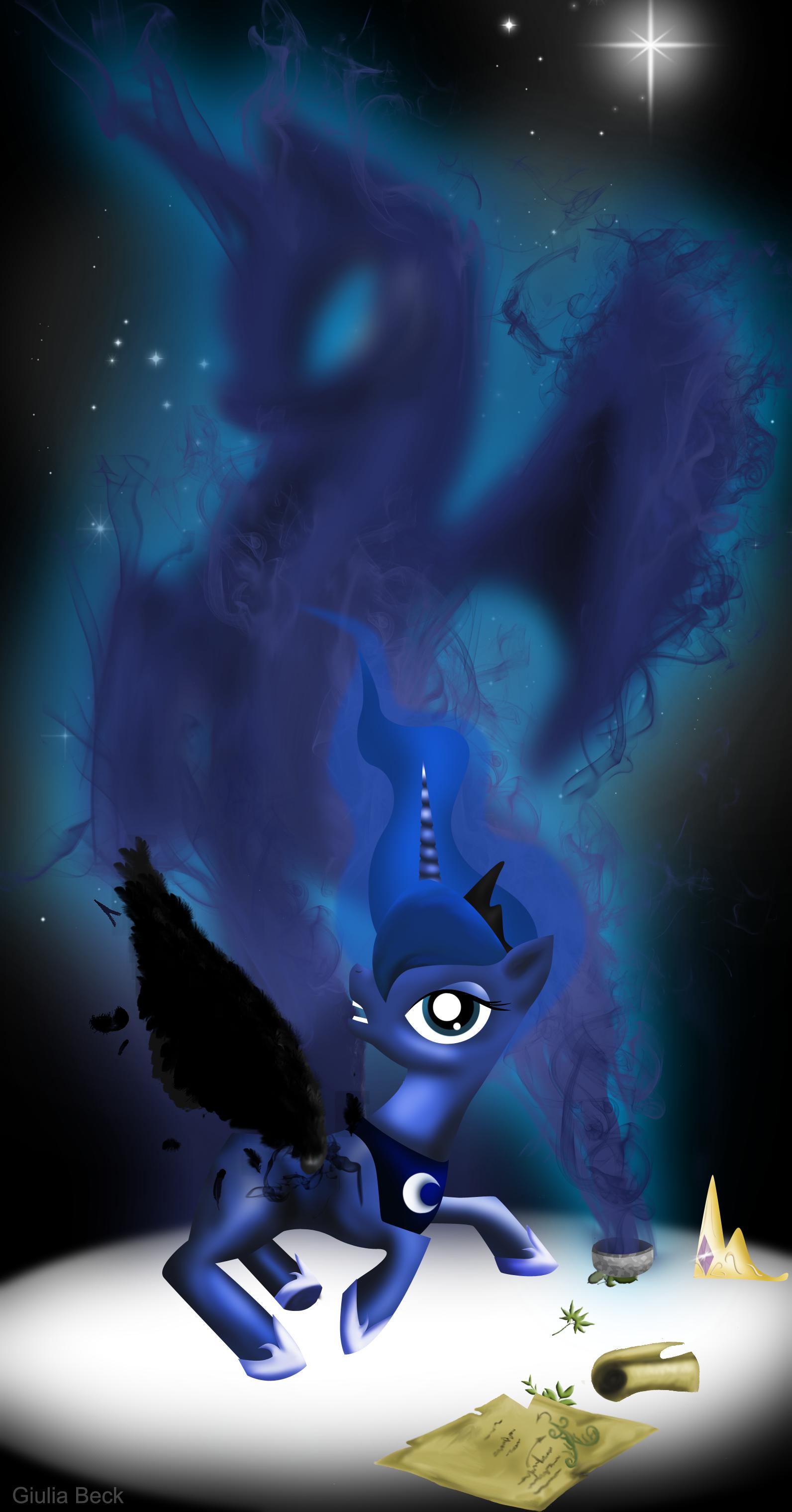 #5078 - artist:giuliabeck, corruption, nightmare moon ...