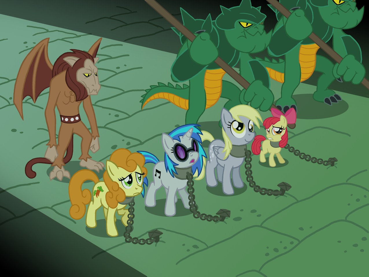 [Obrázek: 34302__safe_derpy+hooves_apple+bloom_vin...lapony.png]