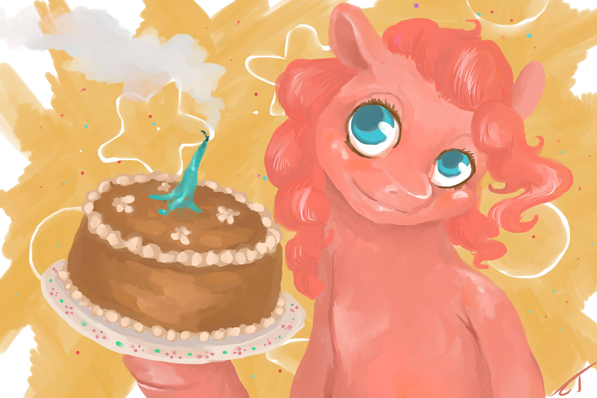 Cake Similar Artists : #34652 - artist:fyrecalla, cake, pinkie pie, safe ...