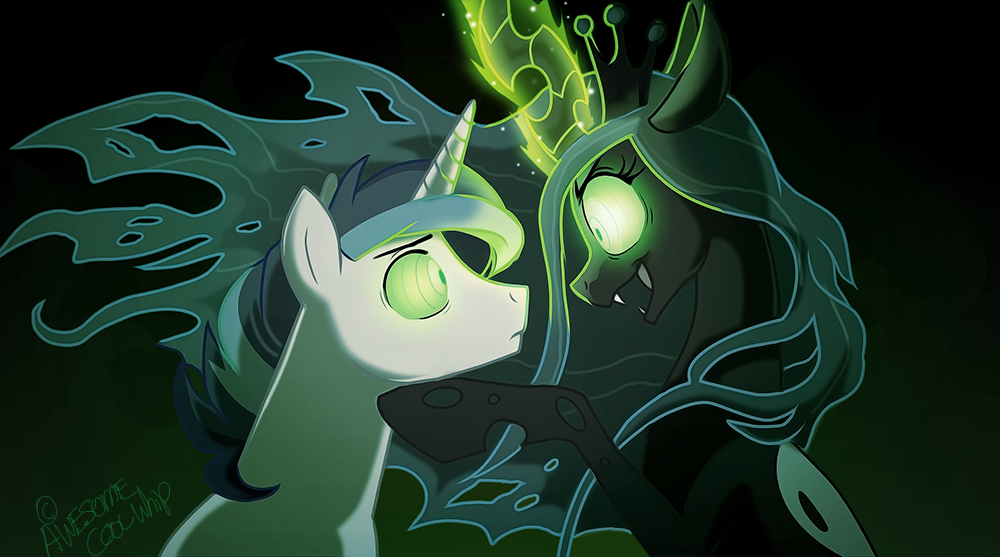 queen chrysalis shining armor hypnosis mind control shining chrysalis    Queen Chrysalis And Shining Armor