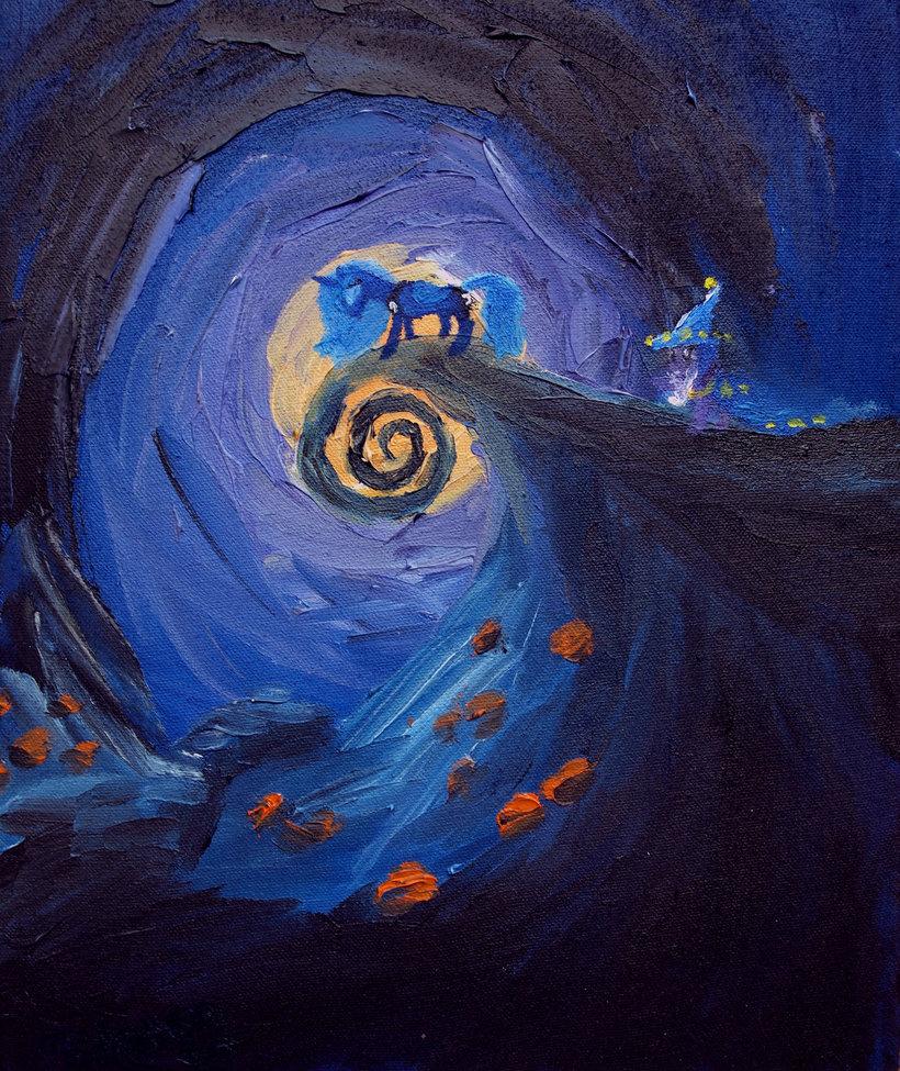 104384 - artist:tridgeon, oil painting, painting, princess luna ...