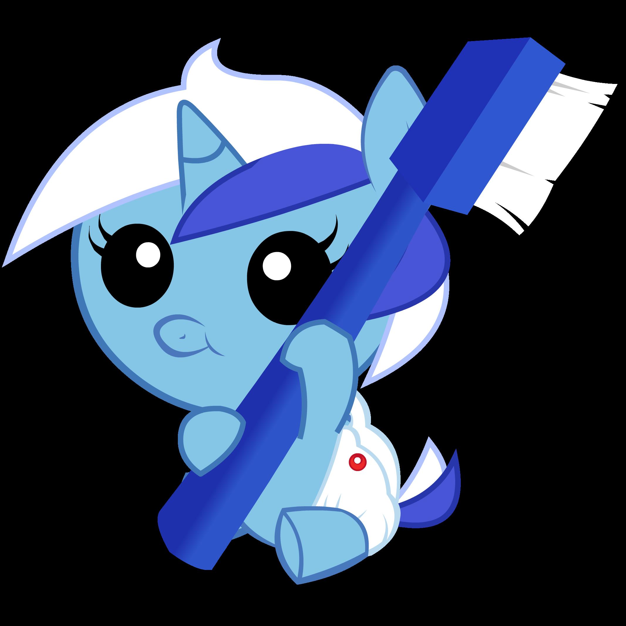 #220089 - artist:obisam, baby pony, brushie, colgate ...