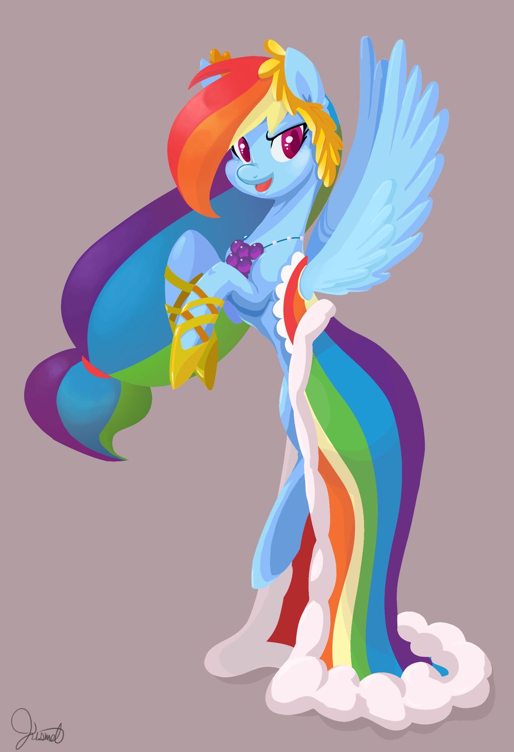 476071 Artist Twitchykismet Clothes Dress Gala Dress Rainbow Dash Safe Solo