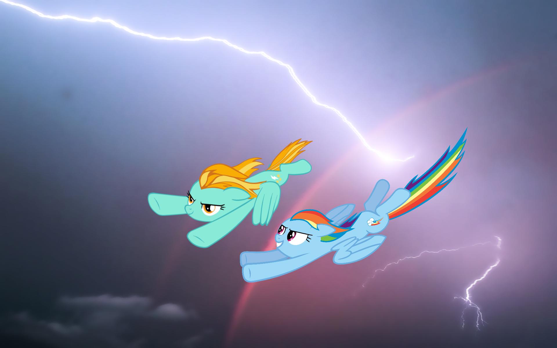 rainbow dash vs lighting - photo #1