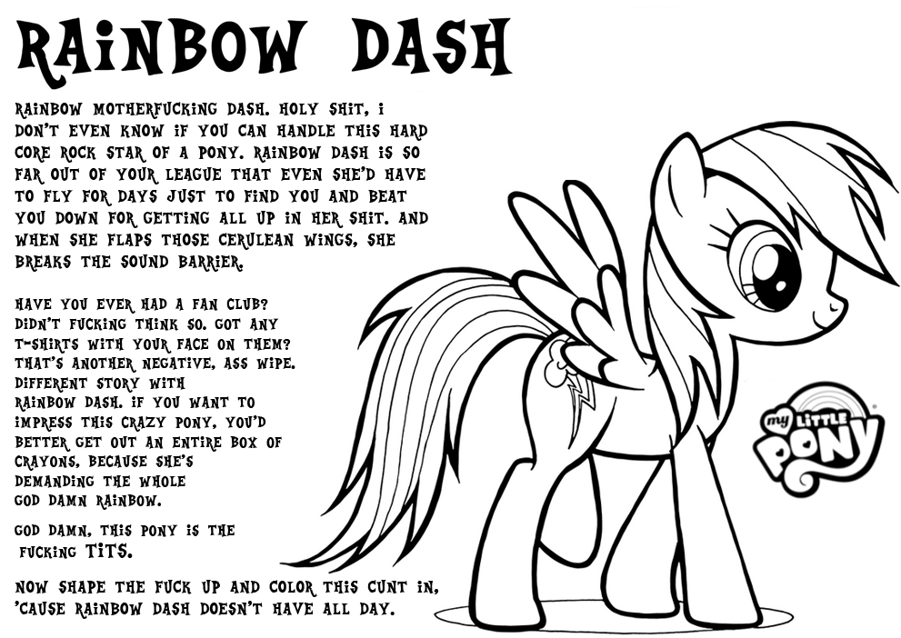 100 ideas Coloring Page Of Rainbow Dash on cleanrrcom