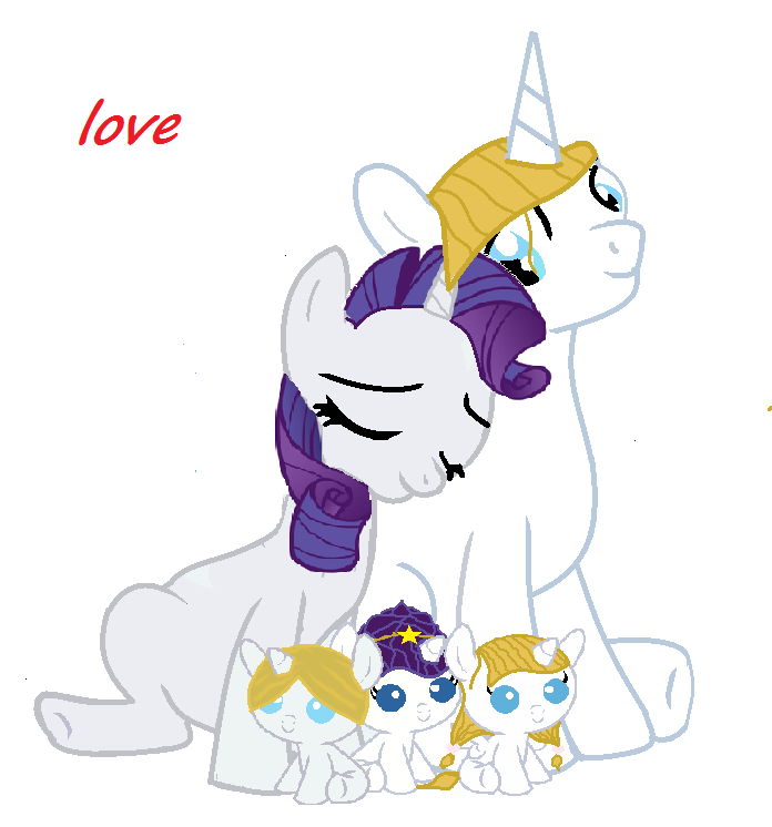 My little pony prince blueblood and rarity