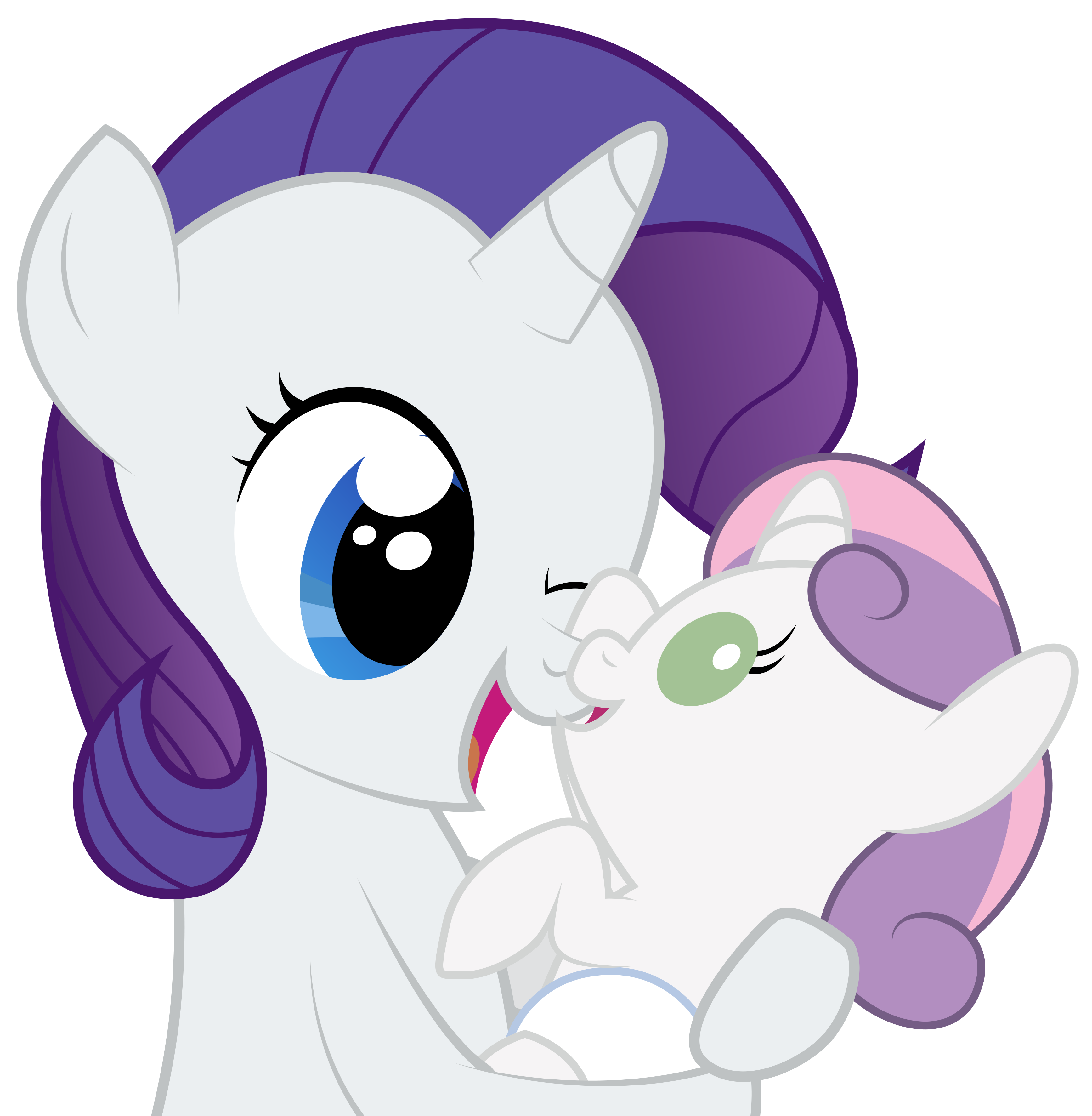 My little pony rarity and sweetie belle - photo#27
