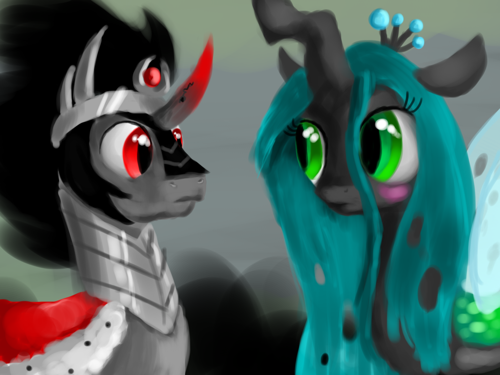 Queen Chrysalis And King Sombra Just for Fun - Human i...