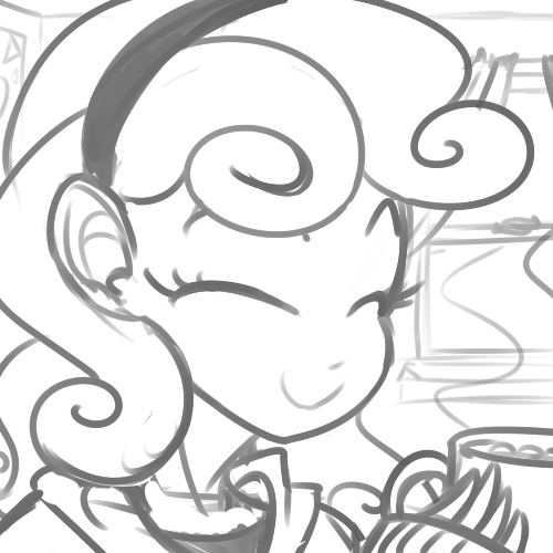 My Little Genchat #6: Season 4 is here - Page 3 777231__safe_humanized_monochrome_sweetie+belle_artist-colon-reiduran_hot+chocolate