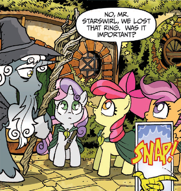 Le Poney Fringant 561774__safe_scootaloo_sweetie+belle_apple+bloom_discord_cutie+mark+crusaders_idw_spoiler-colon-comic_star+swirl+the+bearded_lord+of+the+rings