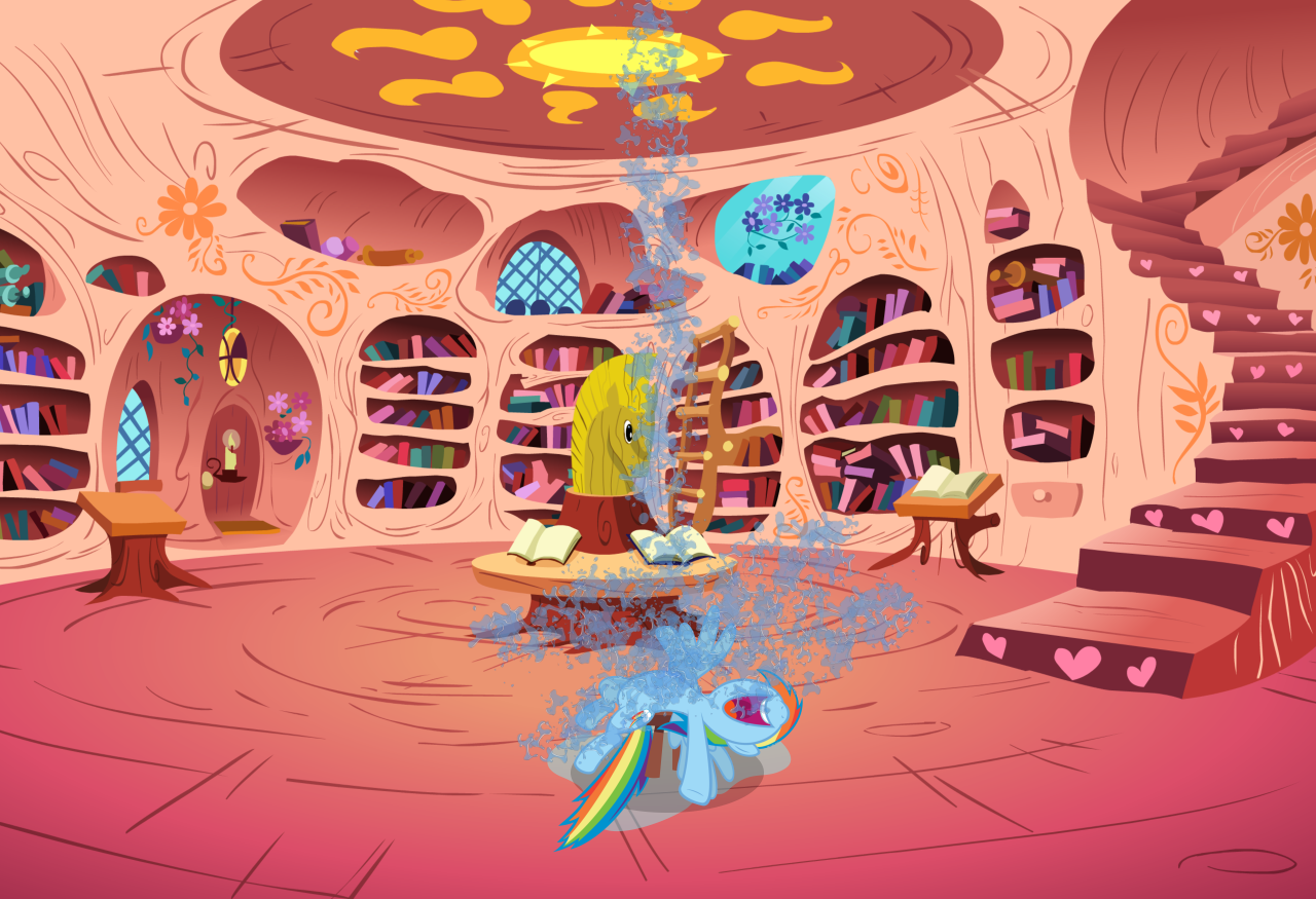 http://derpicdn.net/img/view/2014/4/6/593976__safe_solo_rainbow+dash_water_library_testing+testing+1-dash-2-dash-3_spoiler-colon-s04e21_chair_splash.png