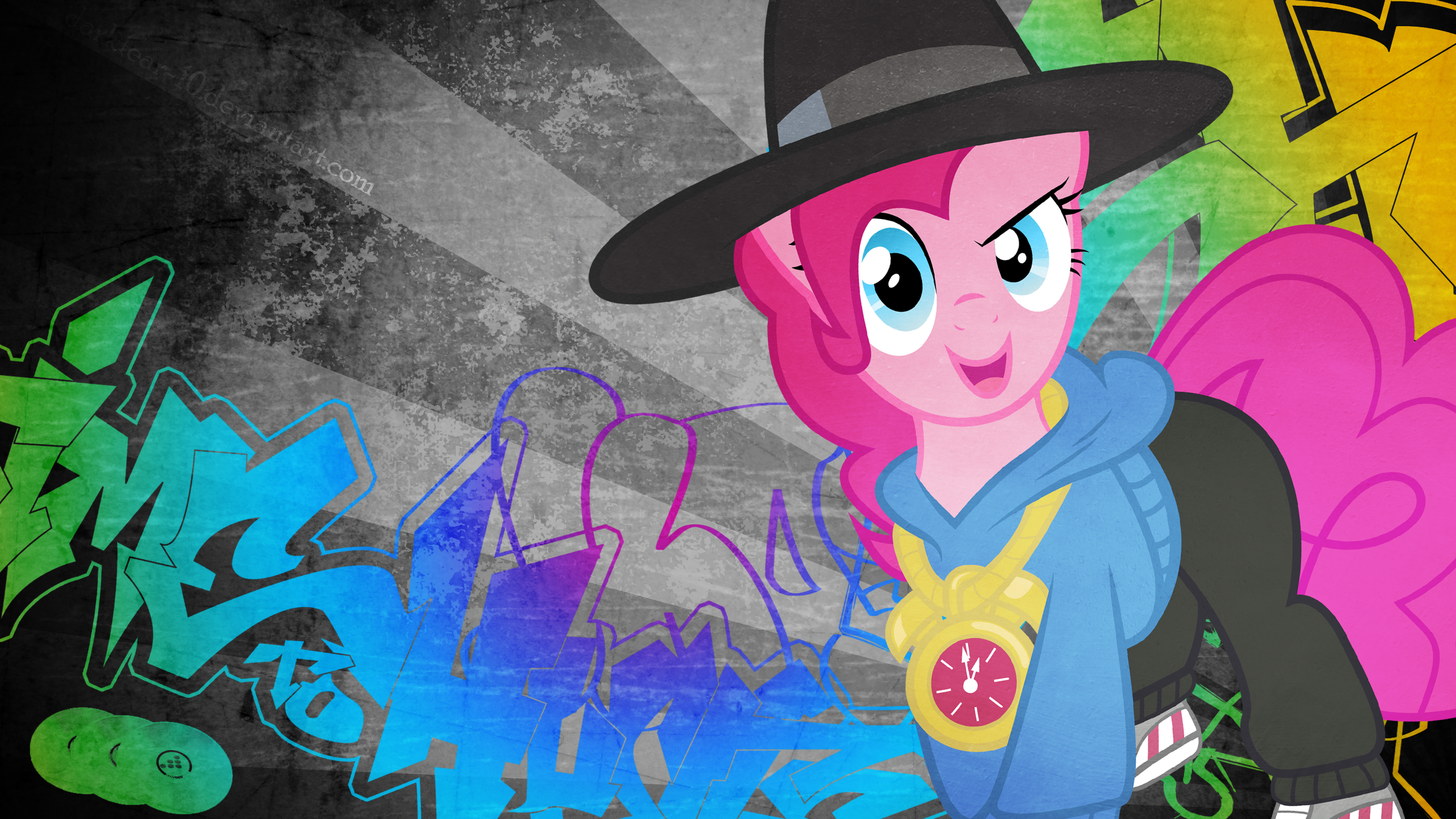 http://derpicdn.net/img/view/2014/4/6/594490__safe_solo_pinkie+pie_wallpaper_testing+testing+1-dash-2-dash-3_spoiler-colon-s04e21_graffiti_rap_run+p-dot-i-dot-e-dot-_rapper+pie.png