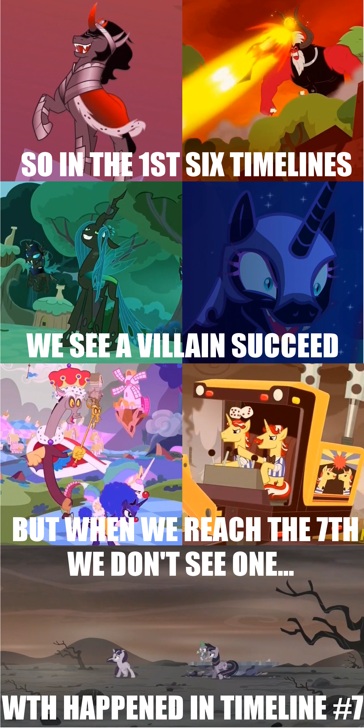 Queen Chrysalis And King Sombra Mlp Fim Season 5 final...