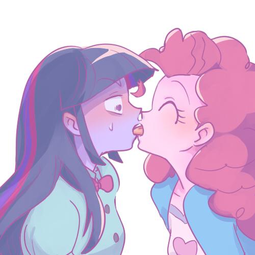 Girls tongue kissing