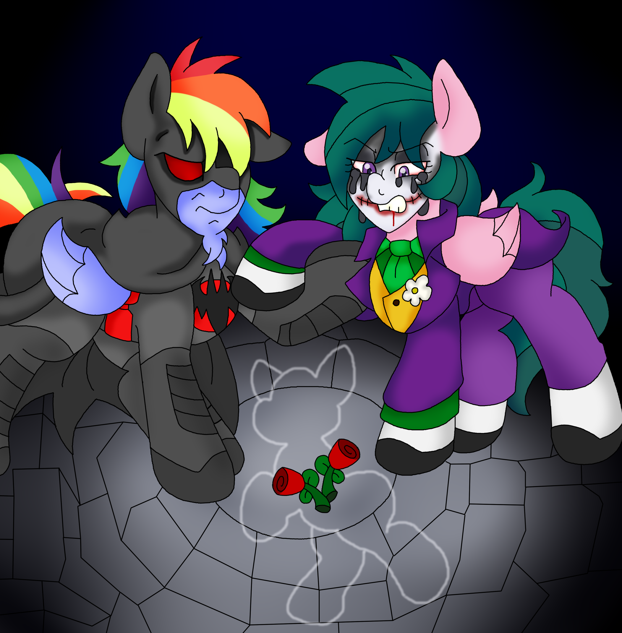 Rainbow Dash Batman Wallpaper by ALoopyDuck on DeviantArt  |Batman Rainbow Dash