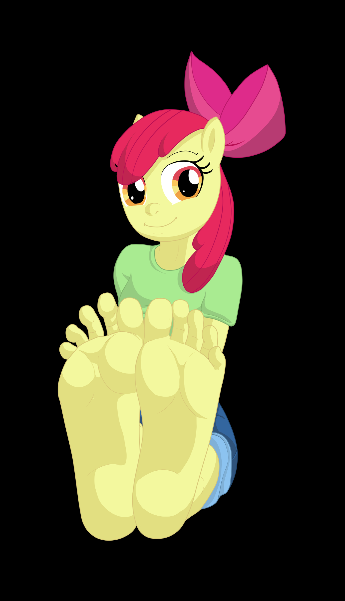 1230859 - Anthro, Apple Bloom, Artistcolonystudios, Barefoot, Equestria Girls Outfit -3861