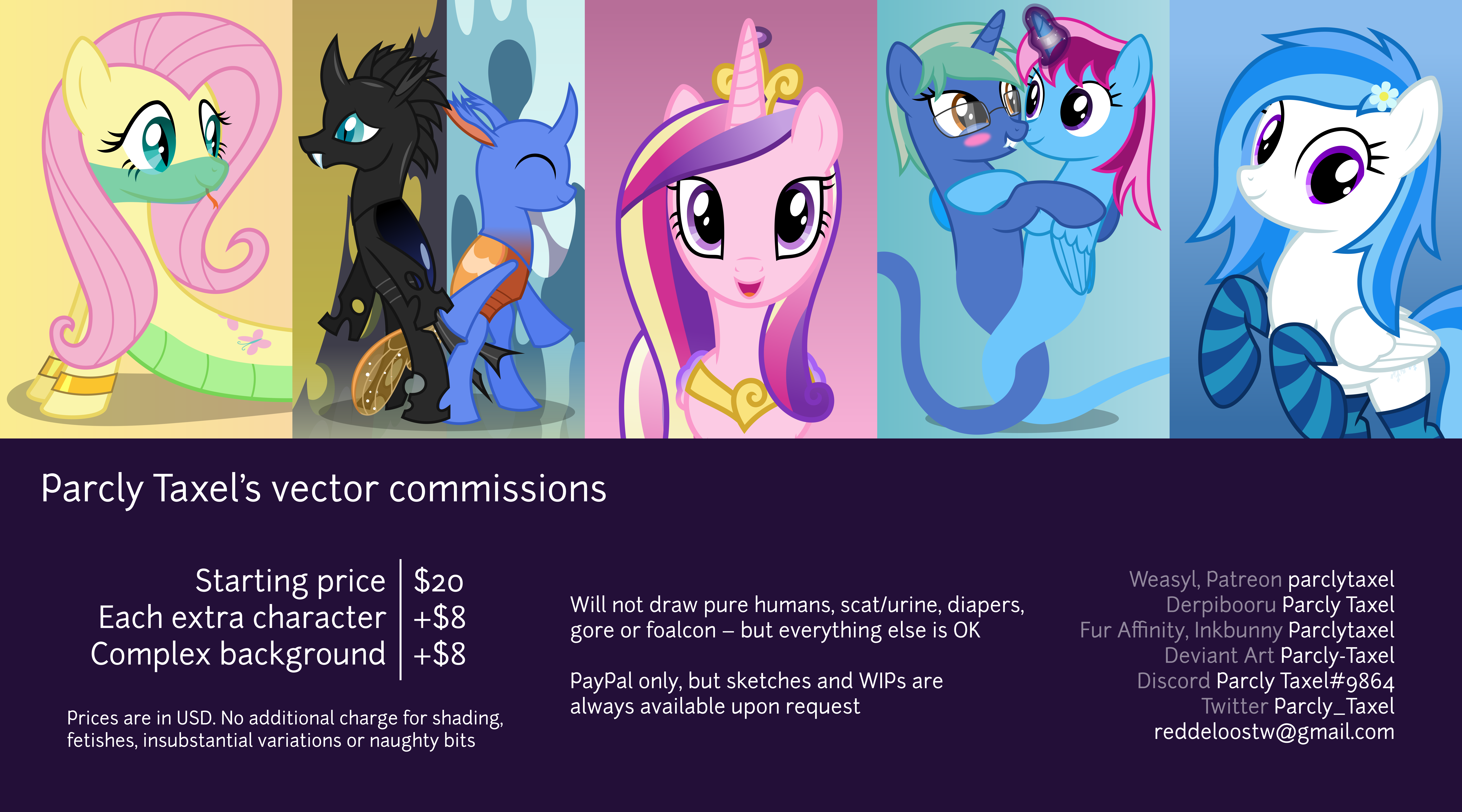 Parcly Taxel's commission sheet