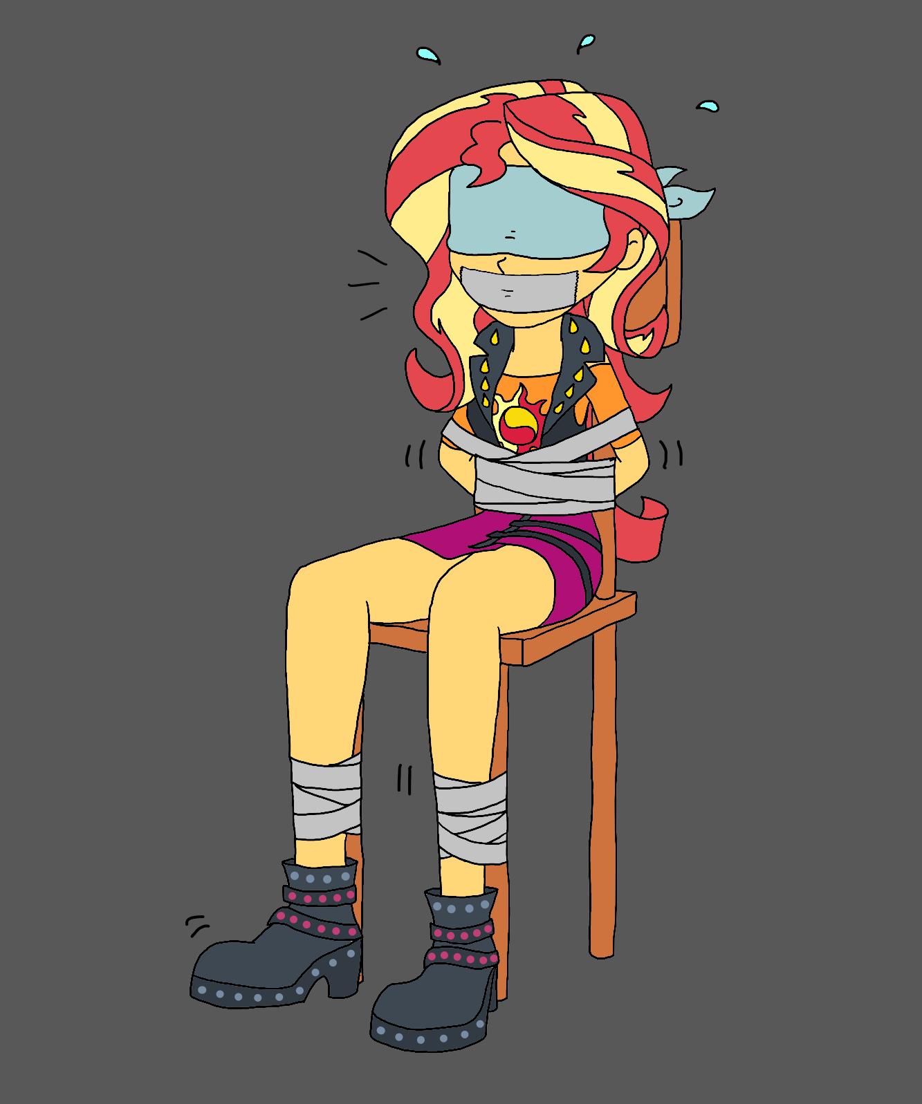 bukkake chair Blindfold in girl