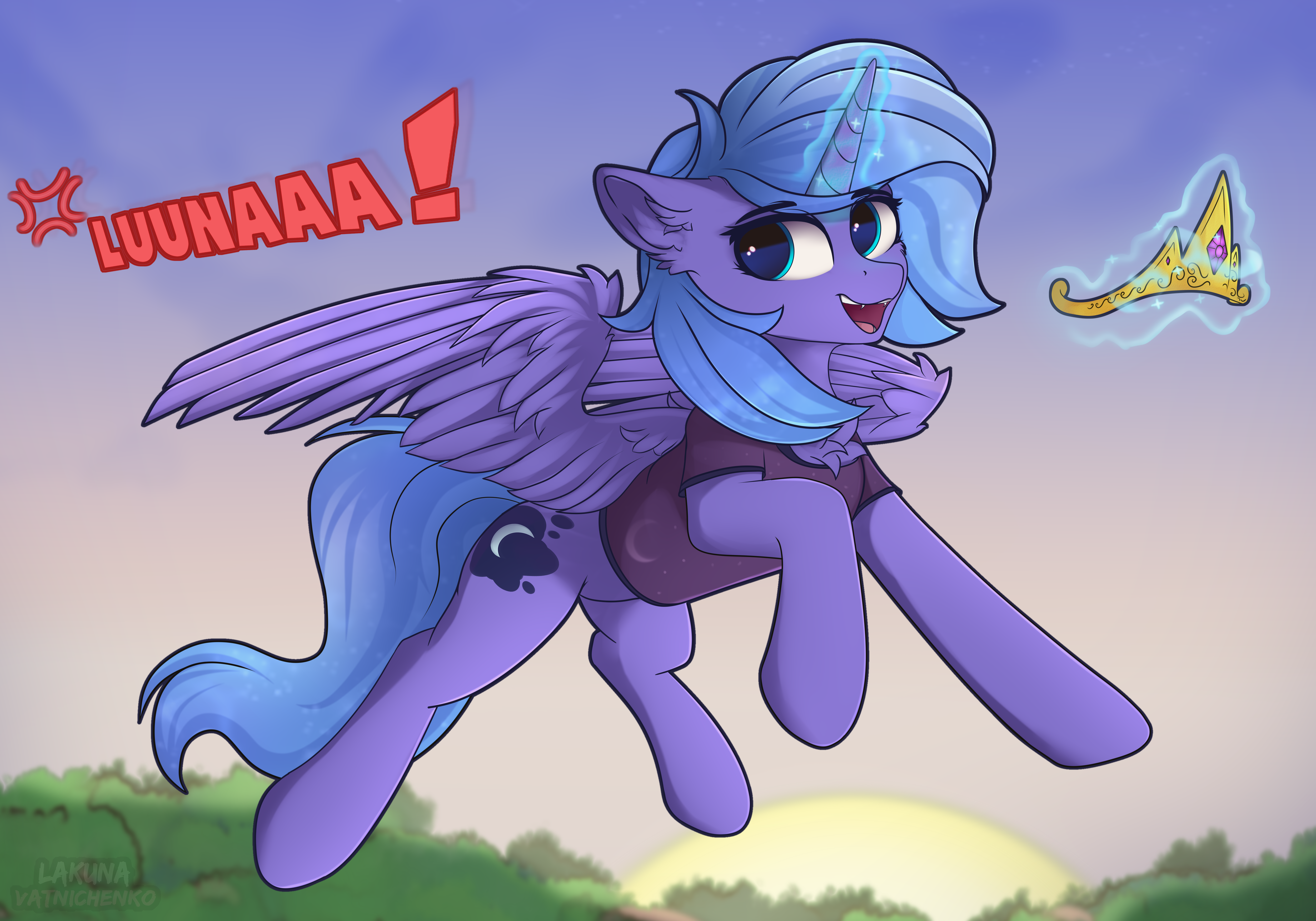 2626167__safe_artist-colon-lakunae_princess+luna_alicorn_pony_absurd+resolution_accessory+theft_chest+fluff_clothes_crown_female_flying_jewelry_looking+back_mar.png
