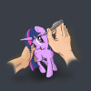 twilight sparkle running train 's logo'